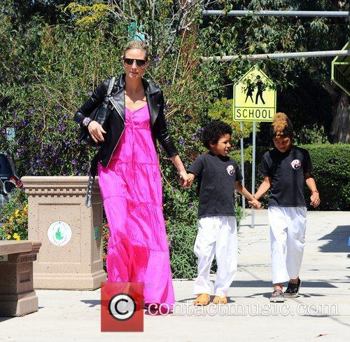 heidi klum and sons johan samuel and 3817370