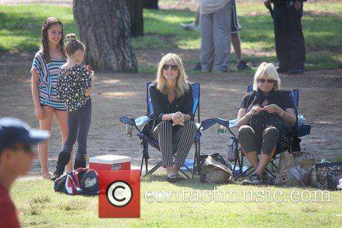 Heidi Klum spends the day with her family...