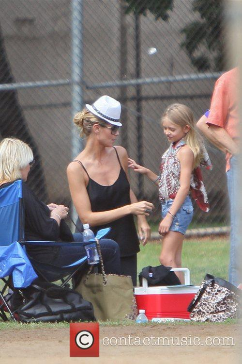 Heidi Klum and her family enjoy the day...