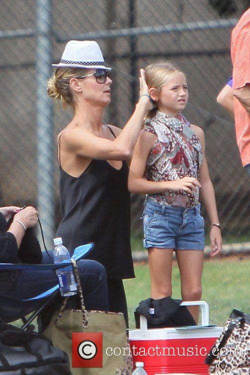 Heidi Klum and her family enjoy the day...