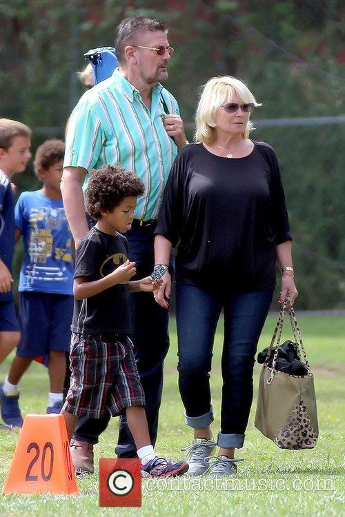 Heidi Klum's parents attend their grandson's soccer game...