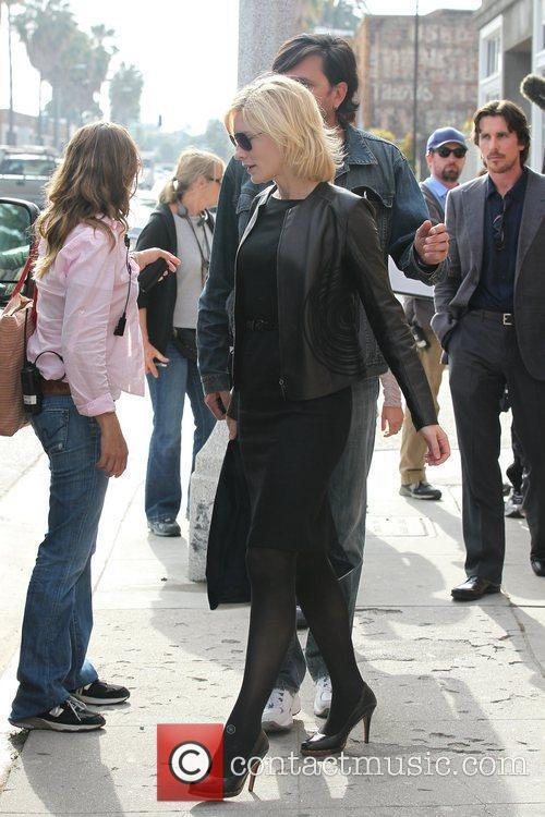 Cate Blanchett   Filming on location in...