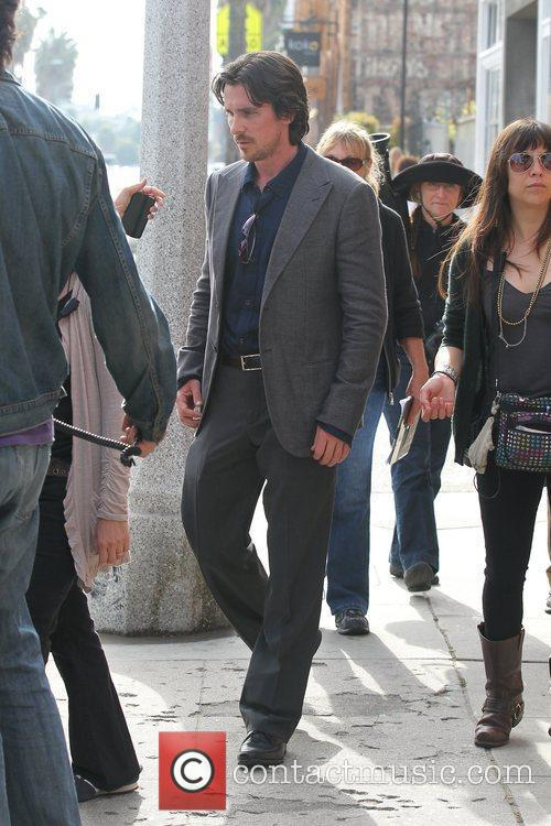 Christian Bale  Filming on location in Venice...