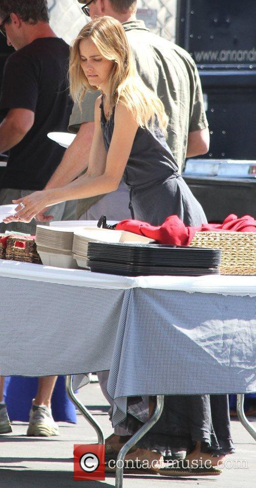 Isabel Lucas  on the set of 'Knight...
