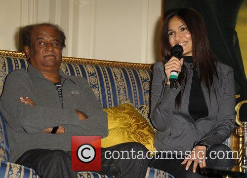 Rajnikanth and Soundarya Press conference for new 3D...