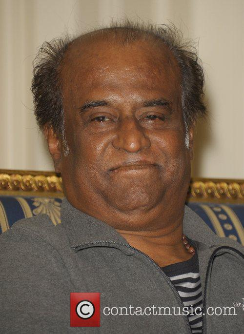 Rajnikanth Press conference for new 3D Indian film...