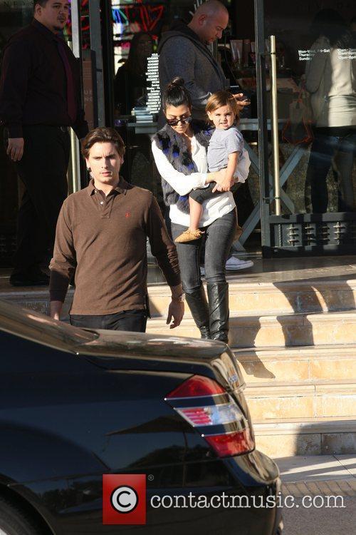 Kourtney Kardashian, Mason and Scott Disick 12