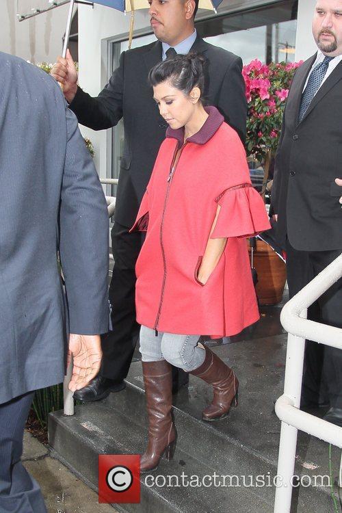 Kourtney Kardashian  leaving Cuvee Wine Bar in...