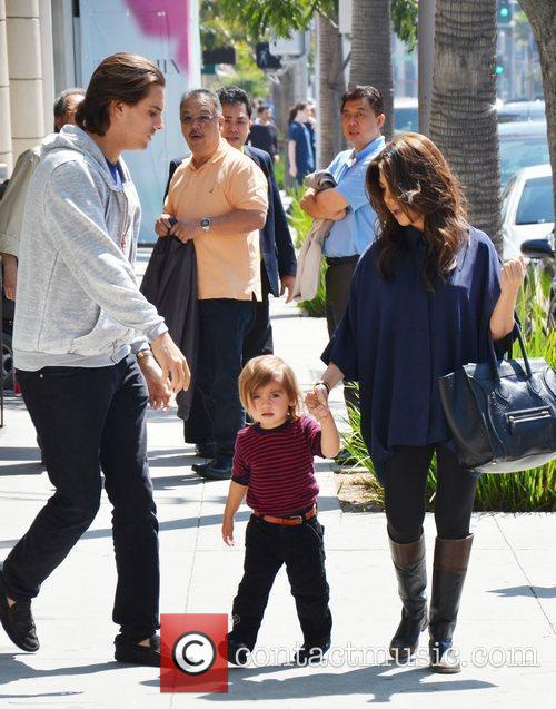 Kourtney Kardashian, Mason and Scott Disick 1