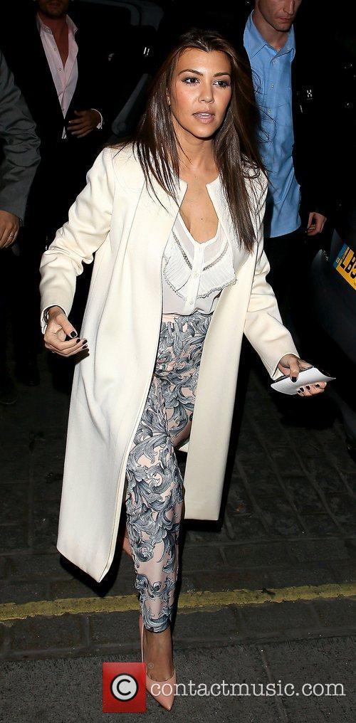 Kourtney Kardashian leaving Zuma restaurant after eating dinner...