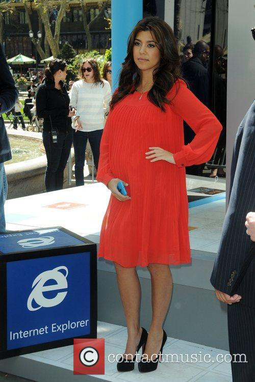 Kourtney Kardashian attends the Nokia Lumia 900 launch...