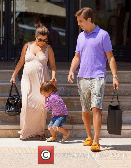Kourtney Kardashian, Mason and Scott Disick 2