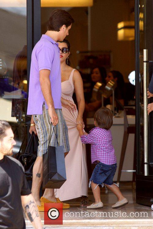 Scott Disick, Kourtney Kardashian and Mason 7