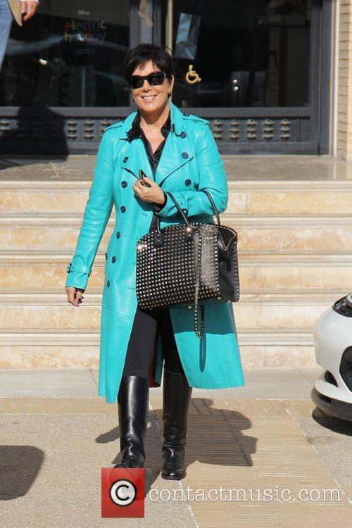 Kris Jenner is seen outside Barneys New York...