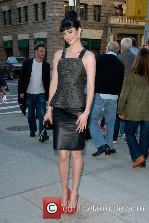 Seen outside her hotel in Manhattan