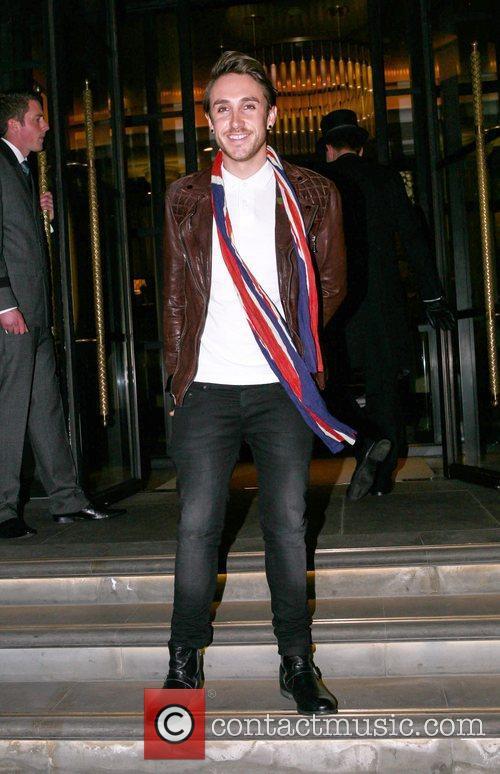 Kye Sones outside his hotel London, England