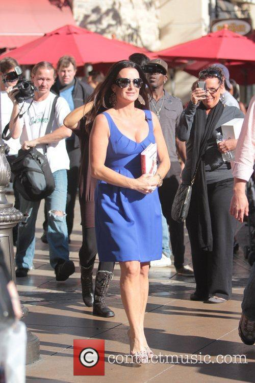Kyle Richards  Celebrities at The Grove ahead...