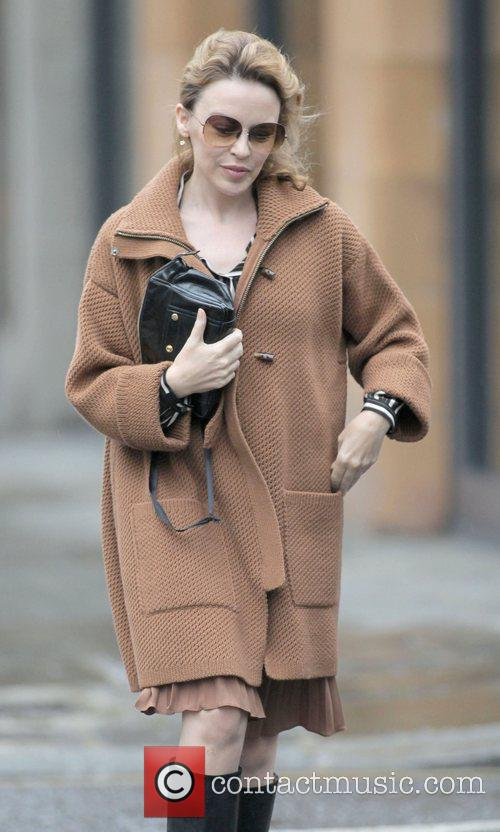 Kylie Minogue out and about in west London...