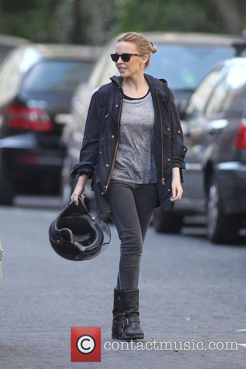 Kylie Minogue  out and about in west...