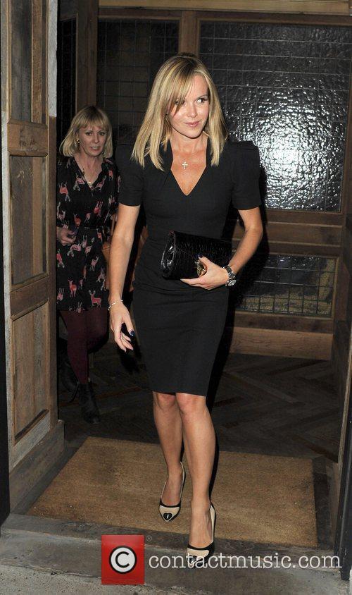Amanda Holden leaving Little House Restaurant in Mayfair.