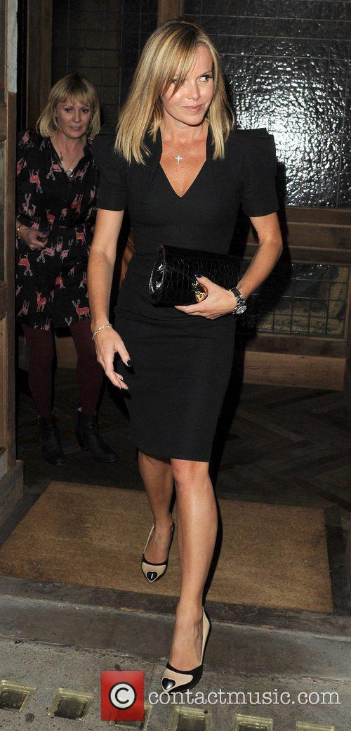 Amanda Holden leaving Little House Restaurant in Mayfair....