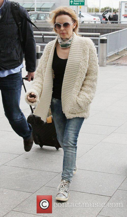 kylie minogue at heathrow airport london england 4153913