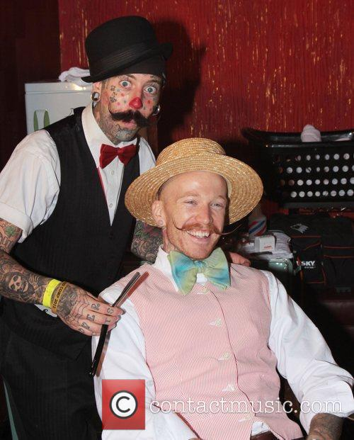 Richie the Barber with a competitor The Los...