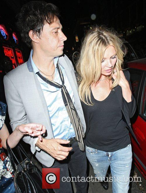 Kate Moss and Jamie Hince leaving at La...