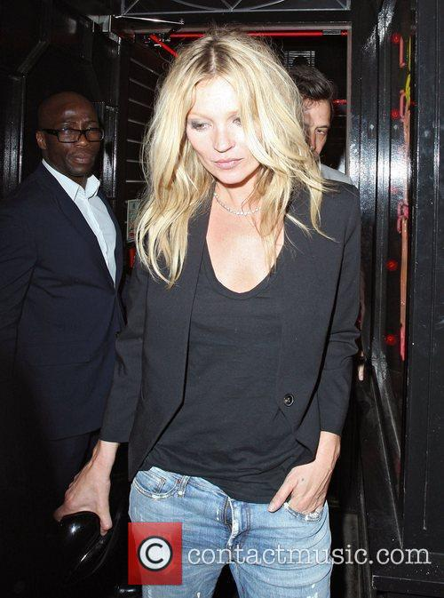Kate Moss leaving at La Bodega Negra restaurant...