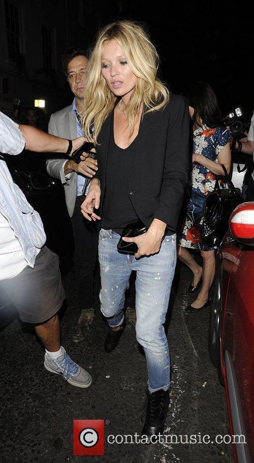 Kate Moss at La Bodega Negra restaurant