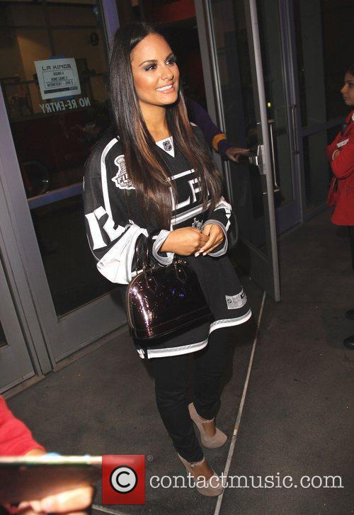 Arrivals for the LA Kings ice hockey match...