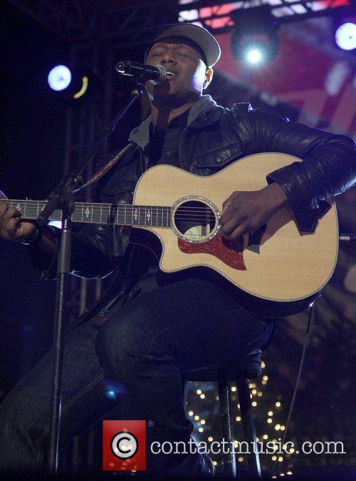 Javier Colon The 4th annual holiday Christmas tree...