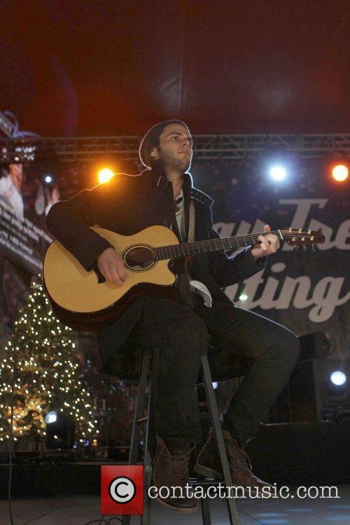 The 4th annual holiday Christmas tree lighting ceremony...