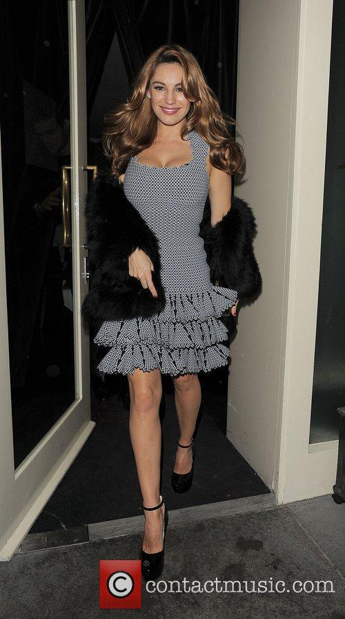 Kelly Brook leaves French restaurant La Petite Maison...