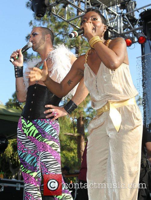 DJ Asha LA Pride 2012 in West Hollywood...