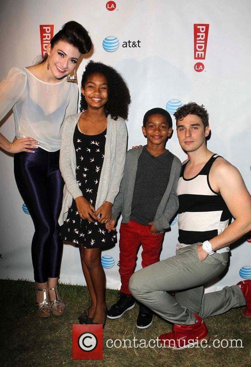 Karmin and Guest LA Pride 2012 in West...