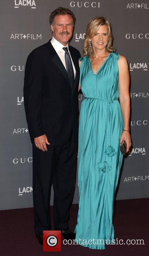 Will Ferrell And Viveca Paulin At LACMA