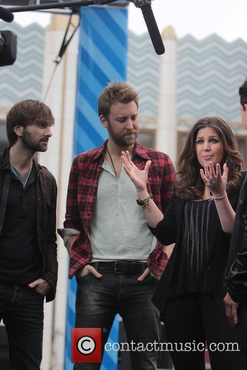Dave Haywood, Charles Kelley and Hillary Scott 8
