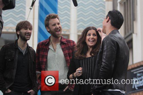 Dave Haywood, Charles Kelley and Hillary Scott 9