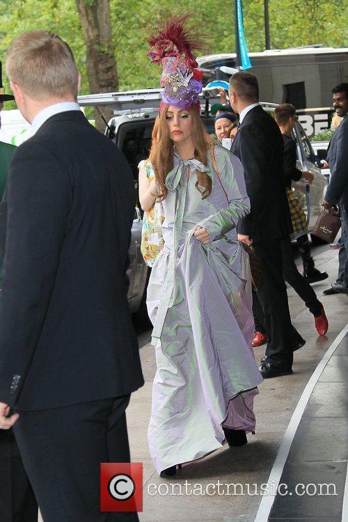 Lady Gaga leaving her hotel London, England