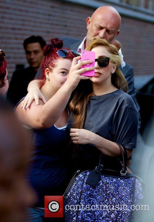 Lady Gaga  arriving at Conservatorium Hotel in...