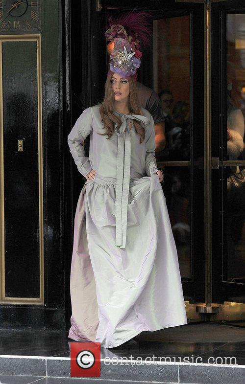 Lady Gaga leaving her hotel and heading to...