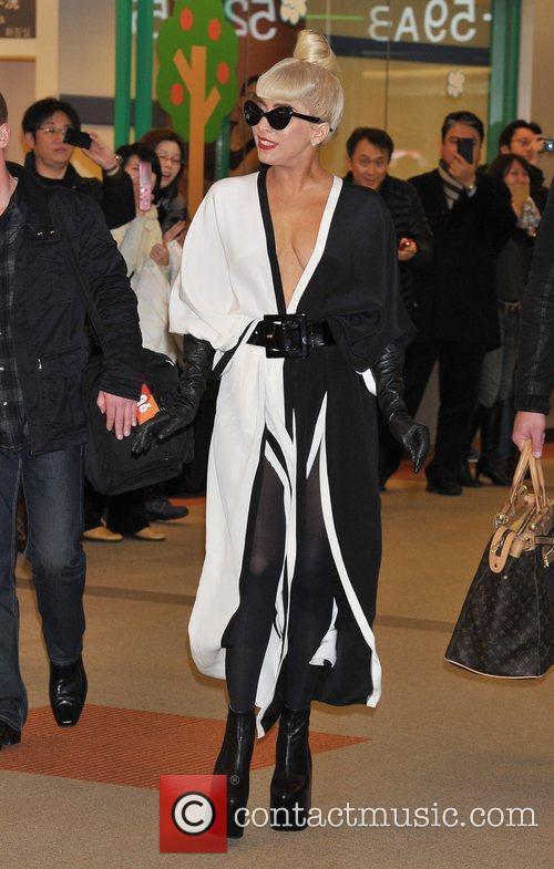 Lady Gaga  departs from Tokyo Narita International...