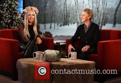 Lady Gaga and Ellen Degeneres 1