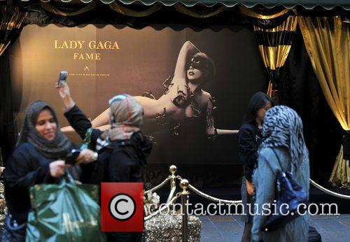 Lady Gaga appears at Harrods to celebrate her...
