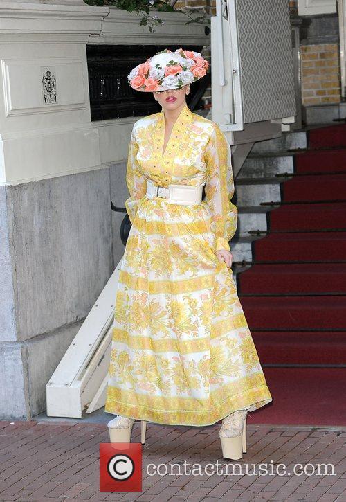 Lady Gaga  leaves her hotel. Gaga headed...