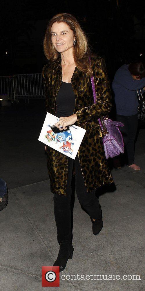 Maria Shriver arrives at the Staples Center for...