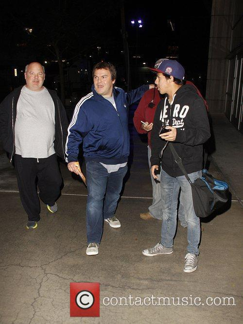 Jack Black and Kyle Cass Celebrities arrive at...