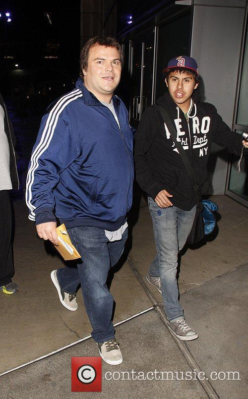 Jack Black Celebrities arrive at The Staples Centre...