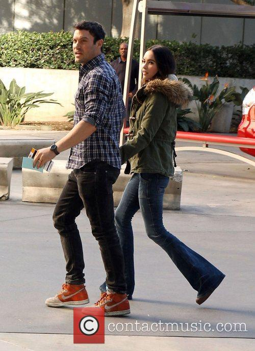 Brian Austin Green, Megan Fox and Staples Center 4